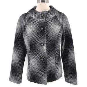 Pendleton Ombre Gray Diamond Patterned Blazer